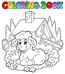 Coloring book spring theme 1