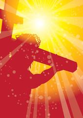 rays christ on cross 1