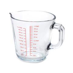Empty measuring cup