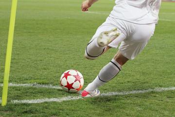 soccer corner kick.