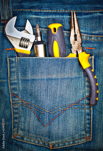 Tools on a pants pocket