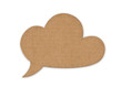 retro cloud for message made of cardboard