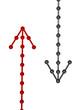 Metallic arrows