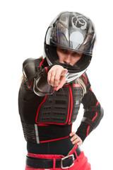 Girl - motorcycle rider