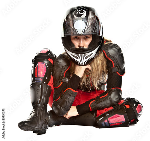 Girl - motorcycle rider