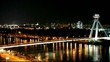 Bratislava bridge - traffic time lapse