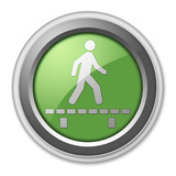 "Green 3D Style Button ""Walk On Boardwalk"""