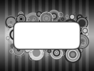 Cartão para escrever uma mensagem - preto e branco