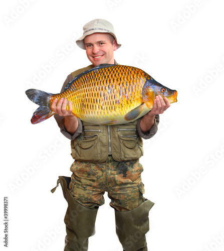 The fisherman with his big Carp.