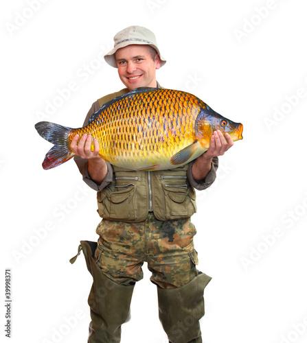 The fisherman with his big Carp.