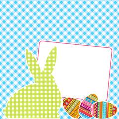 Textile patchworks Easter card
