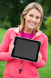 Fitness trainer with digital tablet