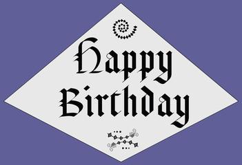 Happy Birthday - middle age design