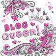 Blog Queen Tiara Sketchy Doodles Vector Design Elements