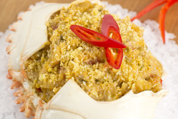 Dressed Crab / Casquinha de Siri - spicy crab meat in its shell