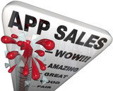 App Sales Thermometer Rising Revenues Apps Store poster
