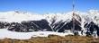 Fototapete Trampelpfad - Schnee - Mittelgebirge