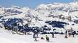 Fototapete Skiläufer - Schweiz - Hochgebirge