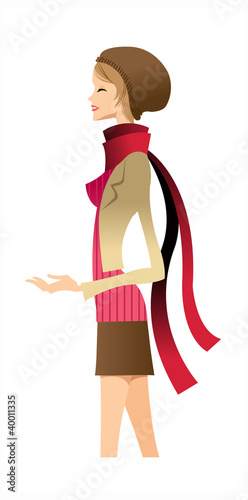 side view of woman standing