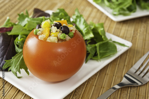 Stuffed Tomato with Salad