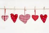 Fototapety Fünf rote Herzen