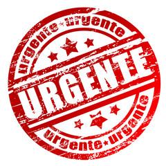 """Carimbo com a palavra """"urgente"""""""