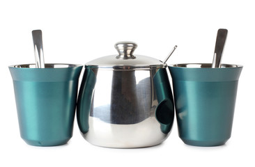 Two cups and sugarbowl