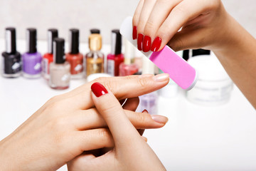 Gentle care of nails in a beauty salon