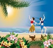 Постер, плакат: гавайские танцы