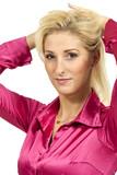 beautiful blond woman, studio portrait