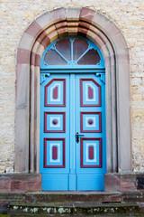 Bunte Kirchentür