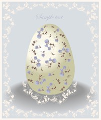 Illustration of Easter eggs. Illustration lace.