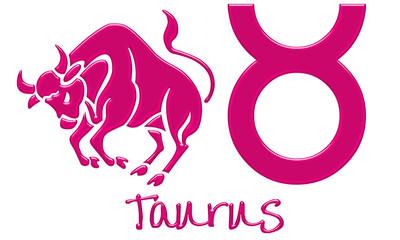 Taurus Zodiac Signs - Hot Pink