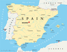 Spanje Kaart