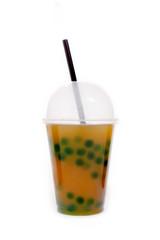 Bubble Tea Grüner Tee mit Orange und Waldmeister
