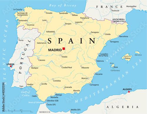 Spain map
