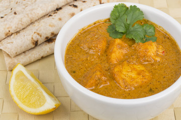 Paneer Makhani - Indian curd cheese curry served with chapatis