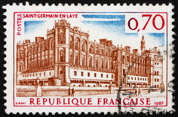 Postage stamp France 1967 Chateau Saint Germain en Laye