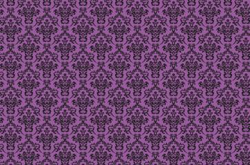 Vintage damask pattern purple