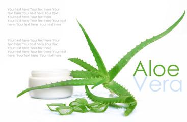 Aloe vera isolated on white