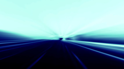 Blurred asphalt road and blue abstract 4