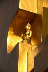 Buddha  in golden pagoda .