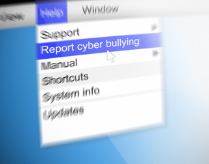 Cyber bullying concept.