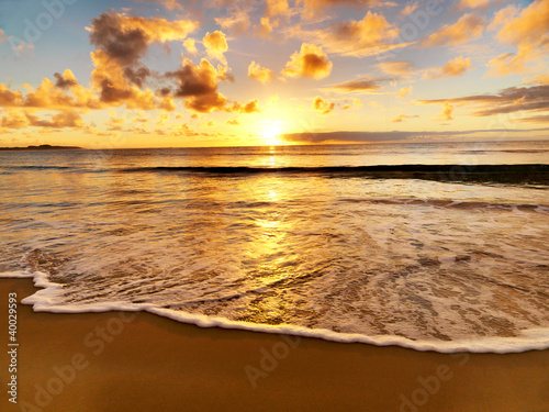 beautiful sunset on the  beach - 40029593