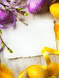 art Easter background with Easter eggs