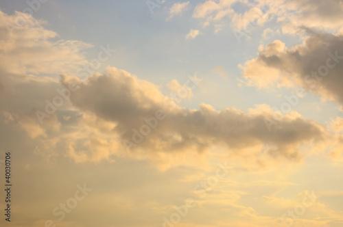 Leinwanddruck Bild Beautiful cloudscape
