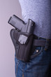 Holstered gun