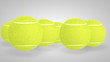 3D tennis balls bouncing with alpha channel