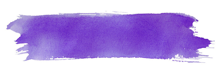 Violet stroke of paint brush