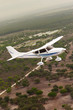 Small airplane flying